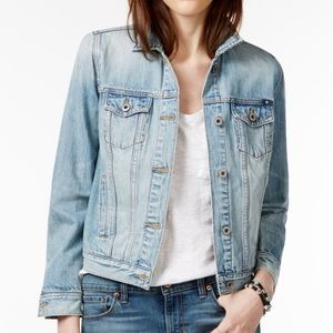 Lucky Brand Denim Embroidered Patch Jacket